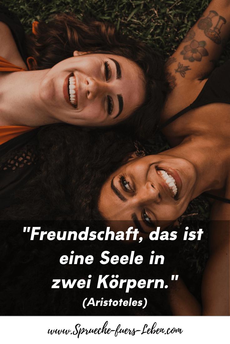 """""""Freundschaft, das ist eine Seele in zwei Körpern."""" (Aristoteles)"""