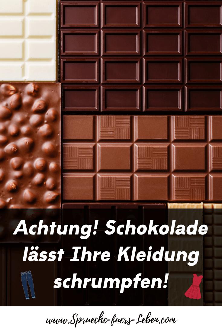 Achtung! Schokolade lässt Ihre Kleidung schrumpfen!