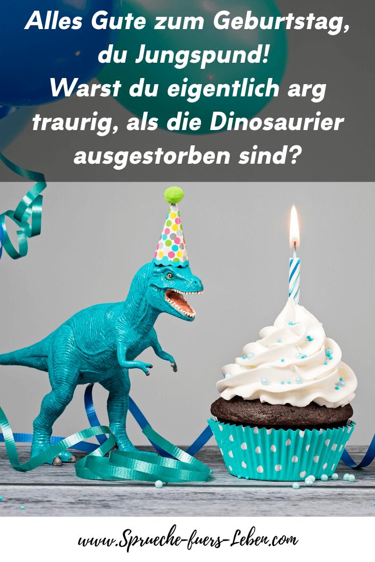 Alles Gute zum Geburtstag, du Jungspund! Warst du eigentlich arg traurig, als die Dinosaurier ausgestorben sind?