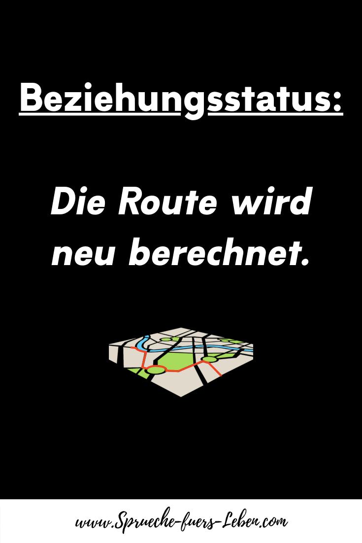 Beziehungsstatus Die Route wird neu berechnet.