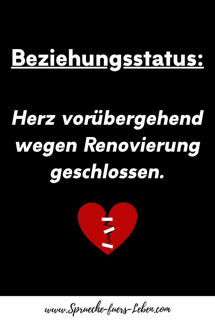 Beziehungsstatus Herz vorübergehend wegen Renovierung geschlossen.