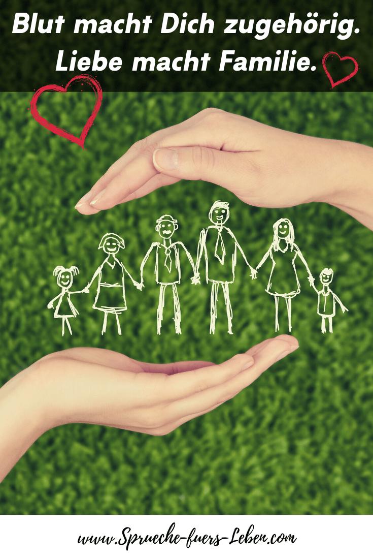 Blut macht Dich zugehörig. Liebe macht Familie.