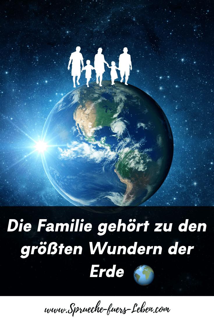 Die Familie gehört zu den größten Wundern der Erde