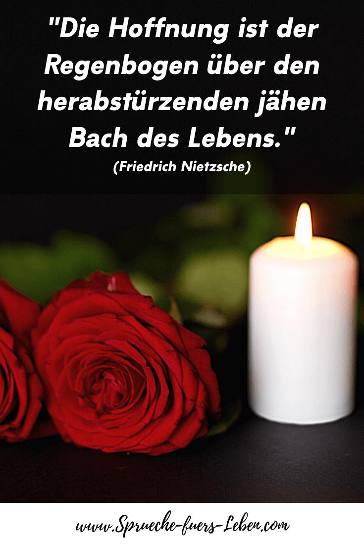 """""""Die Hoffnung ist der Regenbogen über den herabstürzenden jähen Bach des Lebens."""" (Friedrich Nietzsche)"""