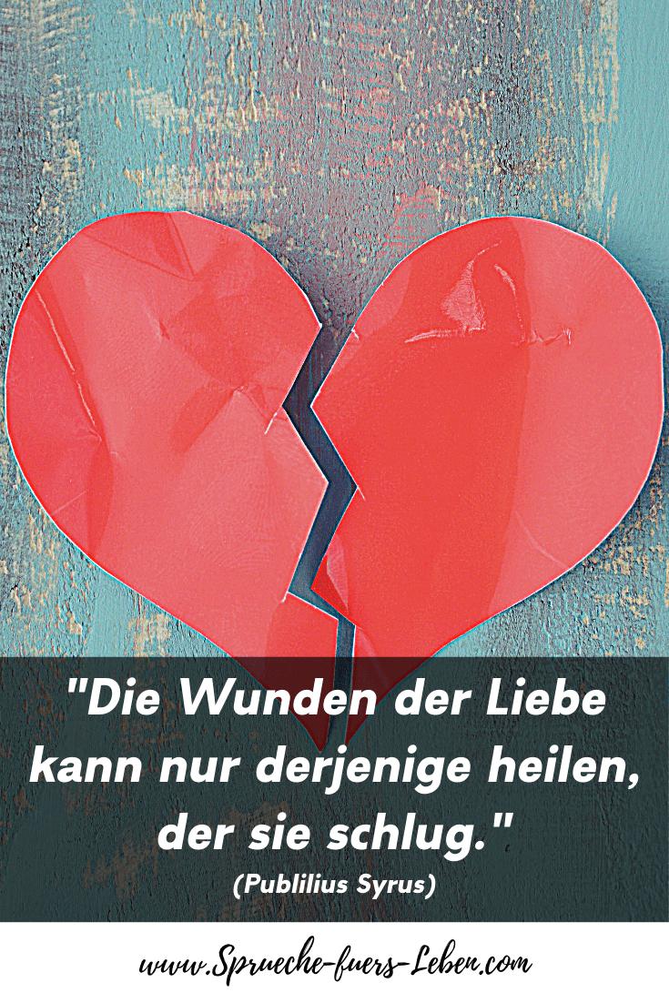"""""""Die Wunden der Liebe kann nur derjenige heilen, der sie schlug."""" (Publilius Syrus)"""