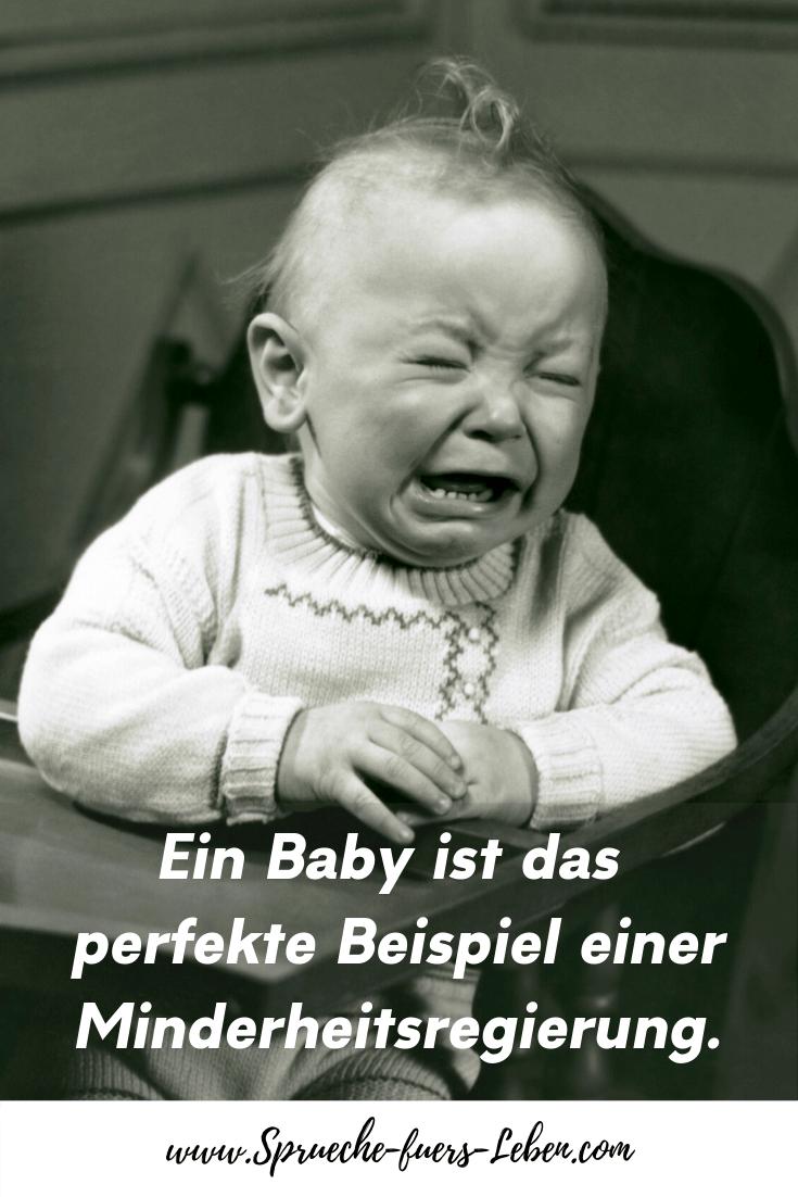 Ein Baby ist das perfekte Beispiel einer Minderheitsregierung.