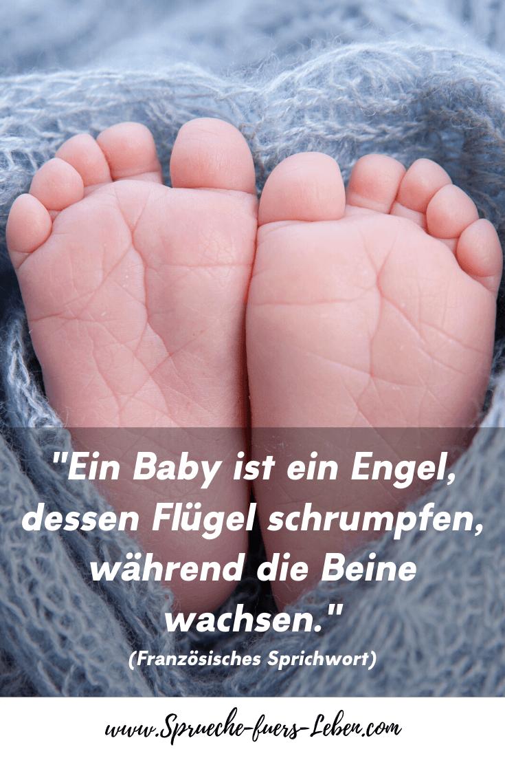 """""""Ein Baby ist ein Engel, dessen Flügel schrumpfen, während die Beine wachsen."""" (Französisches Sprichwort)"""