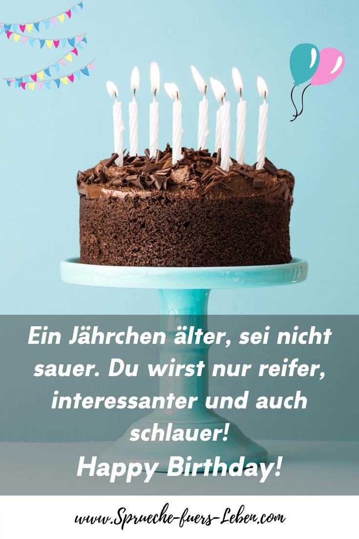 Ein Jährchen älter, sei nicht sauer. Du wirst nur reifer, interessanter und auch schlauer! Happy Birthday!