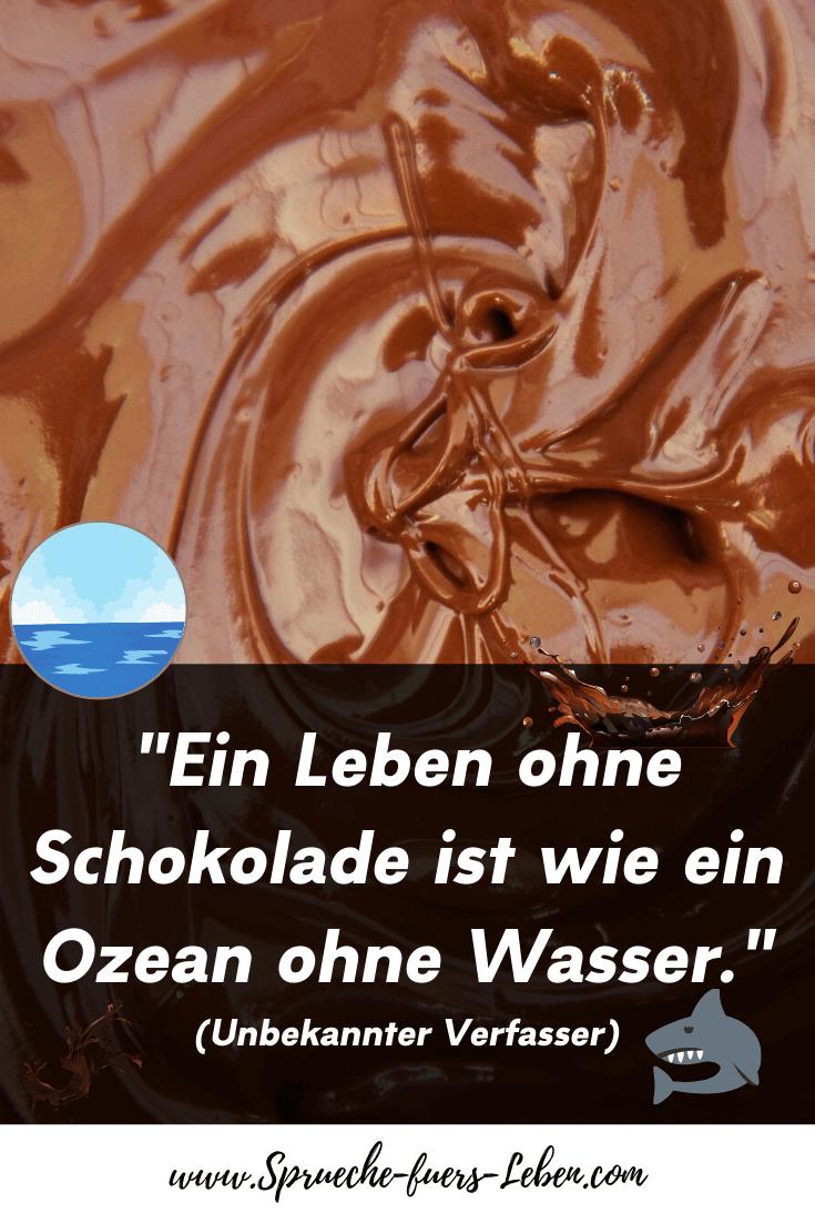 """""""Ein Leben ohne Schokolade ist wie ein Ozean ohne Wasser."""" (Unbekannter Verfasser)"""