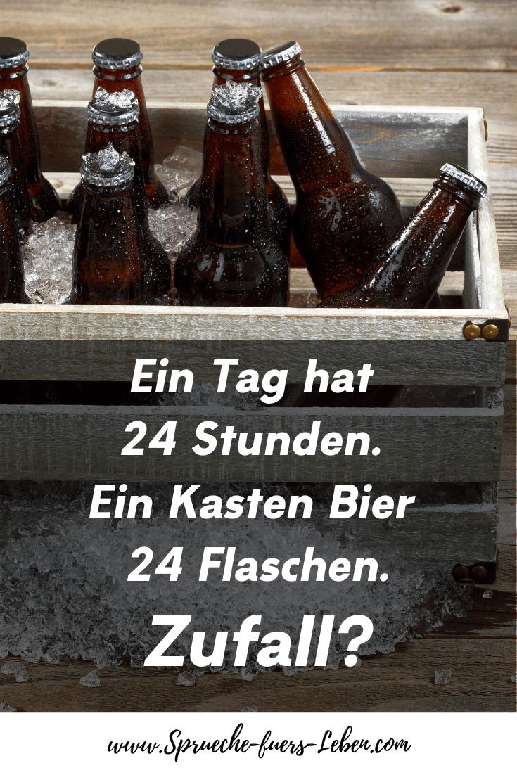 Ein Tag hat 24 Stunden. Ein Kasten Bier 24 Flaschen. Zufall?