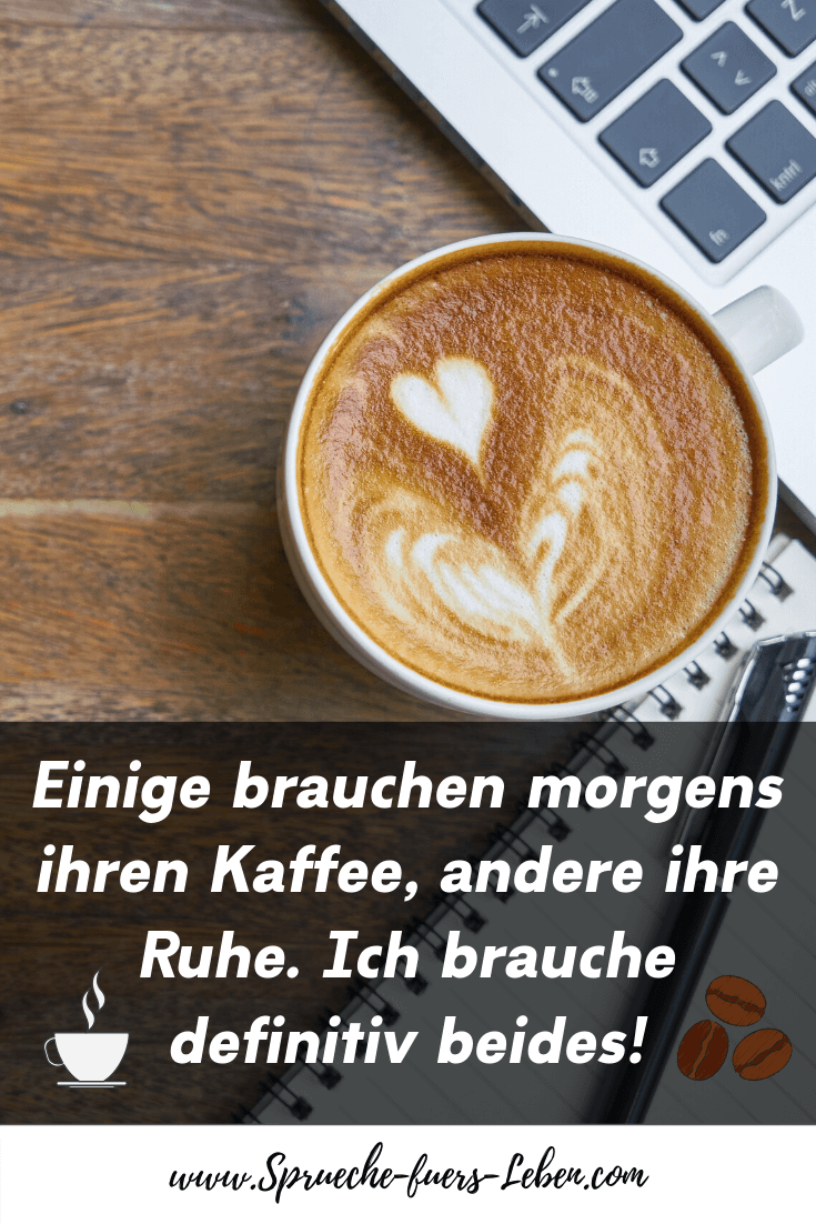 Einige brauchen morgens ihren Kaffee, andere ihre Ruhe. Ich brauche definitiv beides!