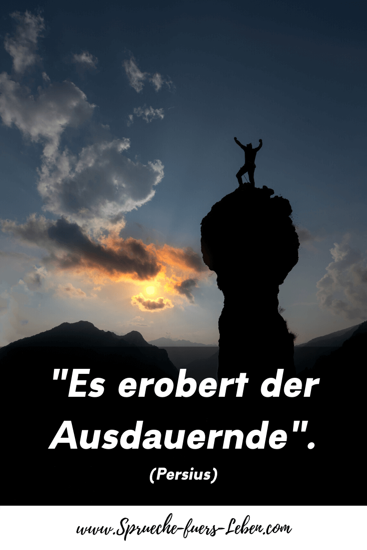 """Es erobert der Ausdauernde."" (Persius)"