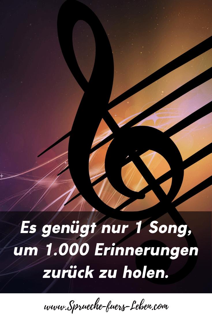 Es genügt nur 1 Song, um 1.000 Erinnerungen zurück zu holen.