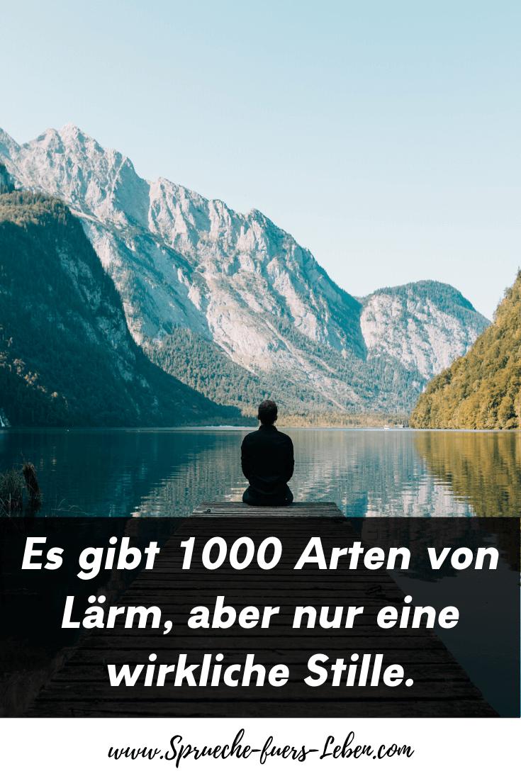Es gibt 1000 Arten von Lärm, aber nur eine wirkliche Stille.