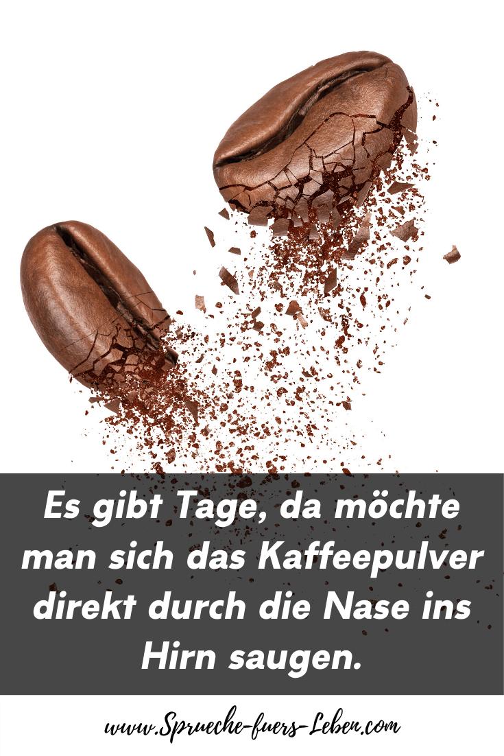 Es gibt Tage, da möchte man sich das Kaffeepulver direkt durch die Nase ins Hirn saugen.