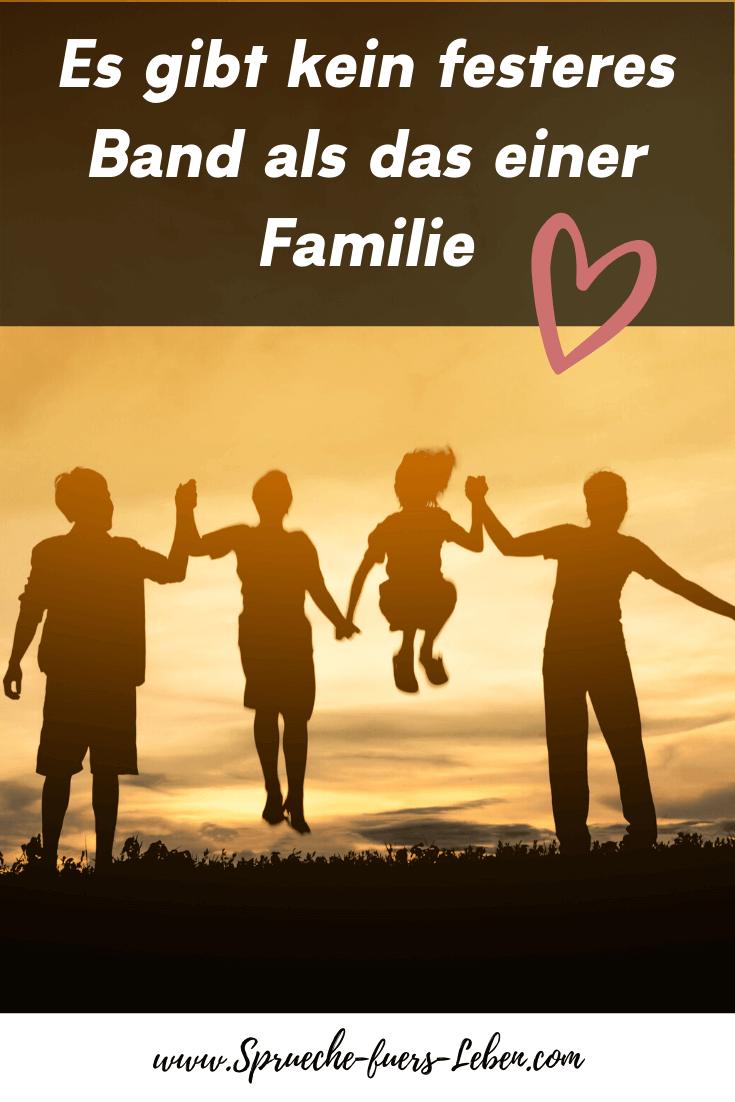 Es gibt kein festeres Band als das einer Familie