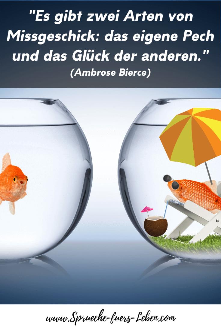 """""""Es gibt zwei Arten von Missgeschick das eigene Pech und das Glück der anderen."""" (Ambrose Bierce)"""