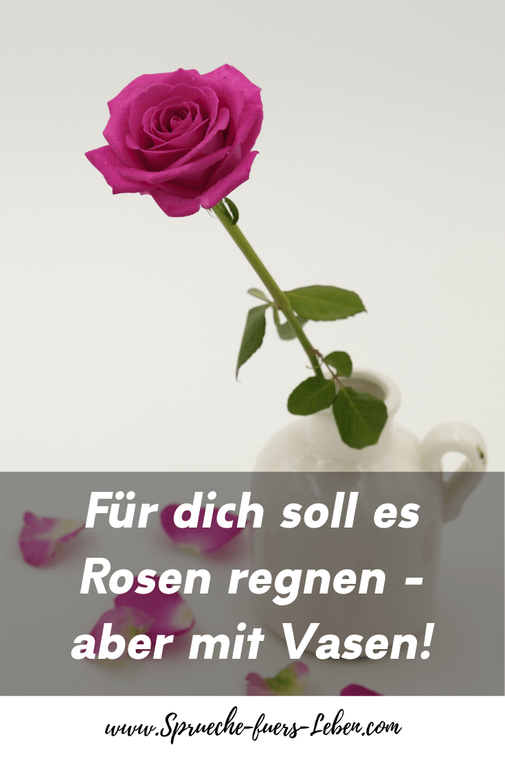 Für dich soll es Rosen regnen - aber mit Vasen!