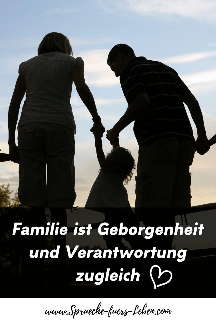 Familie ist Geborgenheit und Verantwortung zugleich