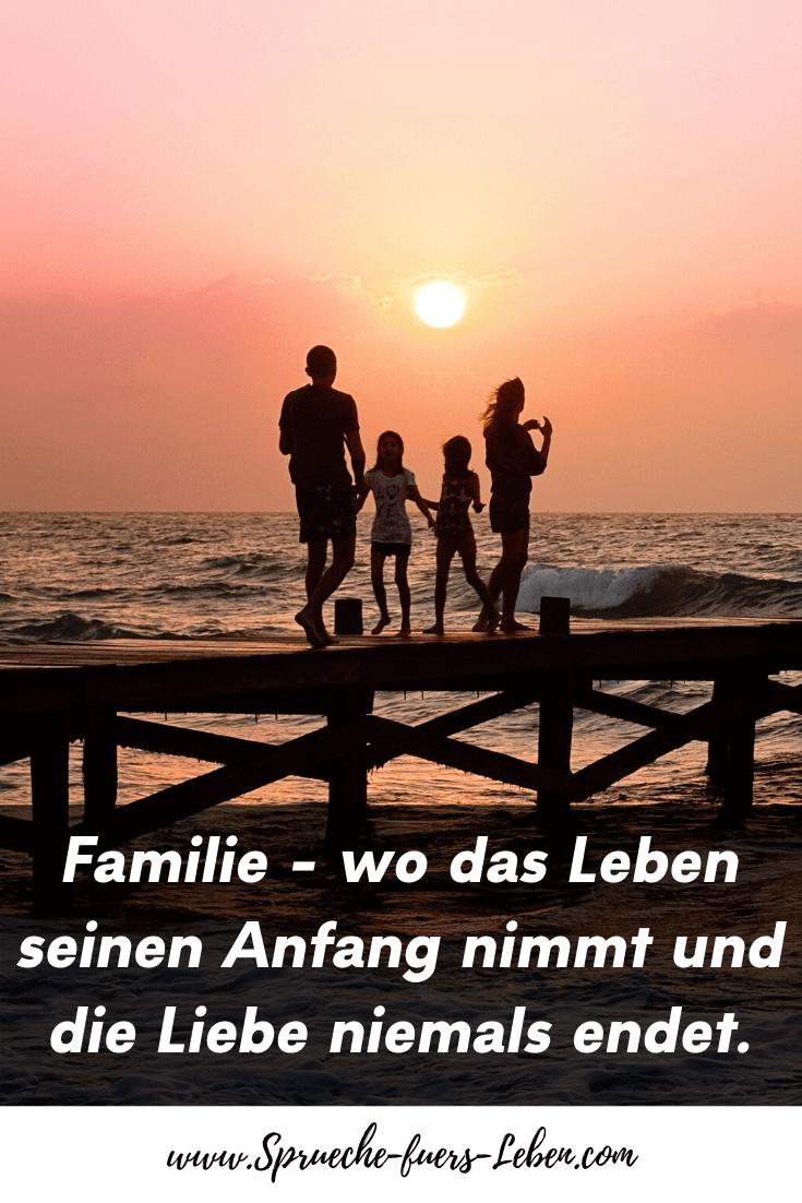Familie - wo das Leben seinen Anfang nimmt und die Liebe niemals endet.