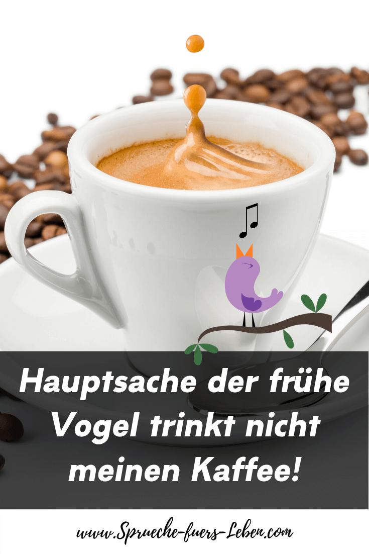 Hauptsache der frühe Vogel trinkt nicht meinen Kaffee!