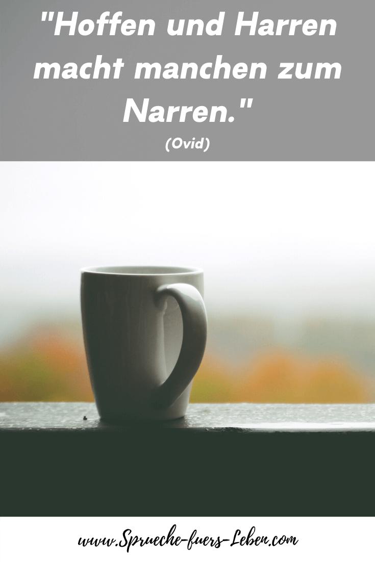 """""""Hoffen und Harren macht manchen zum Narren."""" (Ovid)"""