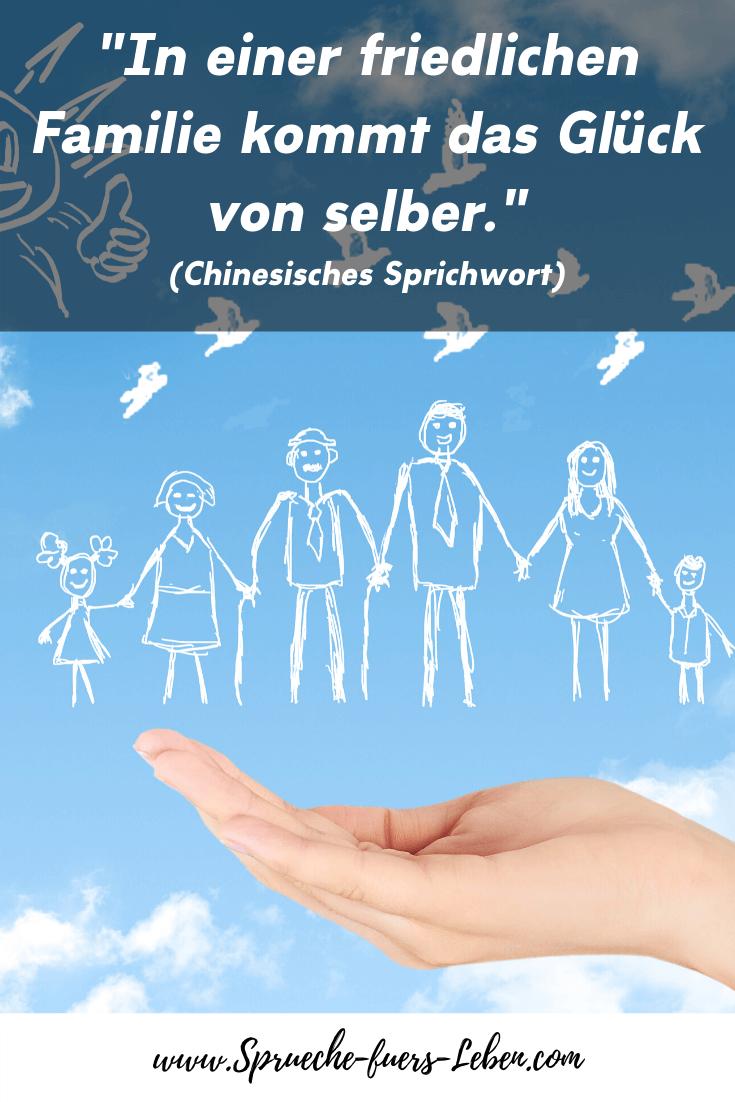 """""""In einer friedlichen Familie kommt das Glück von selber."""" (Chinesisches Sprichwort)"""