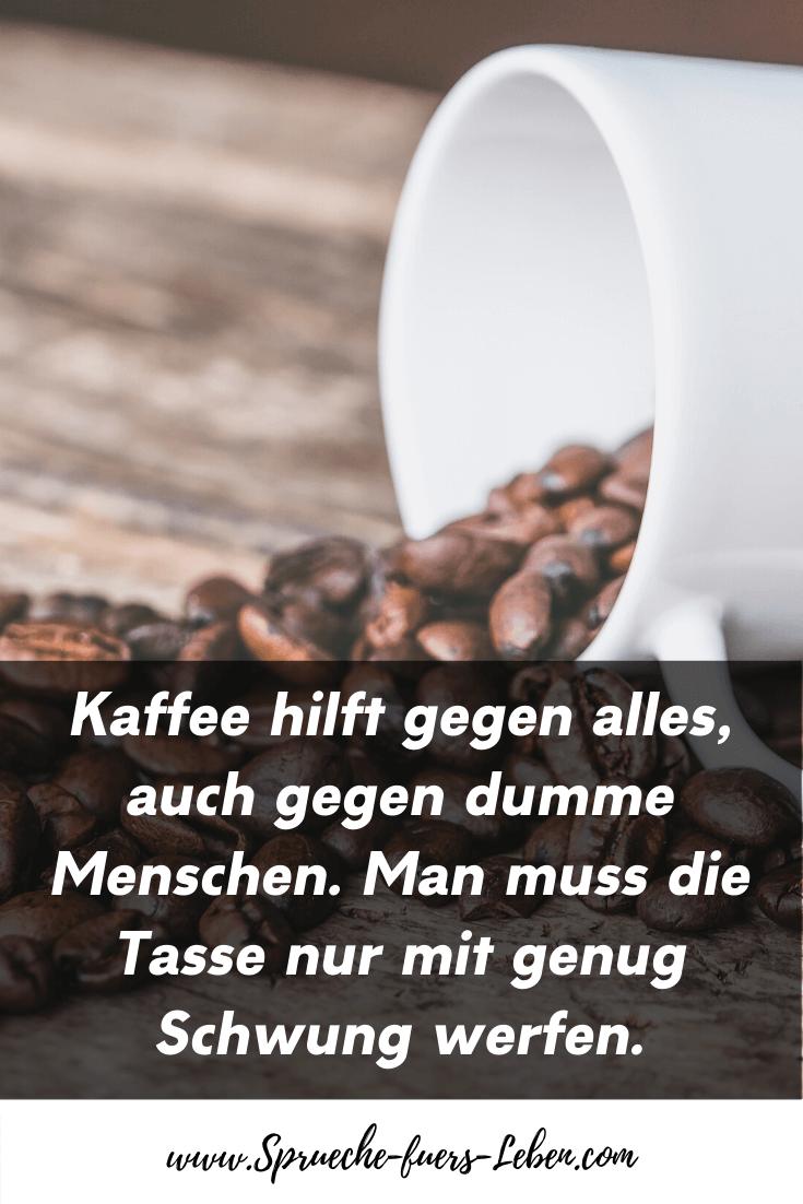 Kaffee hilft gegen alles, auch gegen dumme Menschen. Man muss die Tasse nur mit genug Schwung werfen.