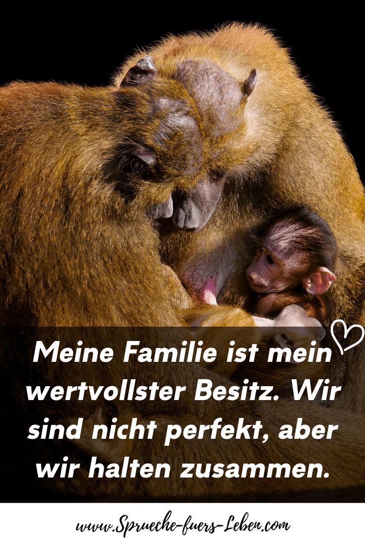Meine Familie ist mein wertvollster Besitz. Wir sind nicht perfekt, aber wir halten zusammen.