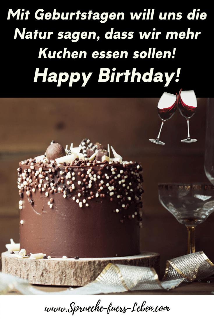 Mit Geburtstagen will uns die Natur sagen, dass wir mehr Kuchen essen sollen! Happy Birthday!