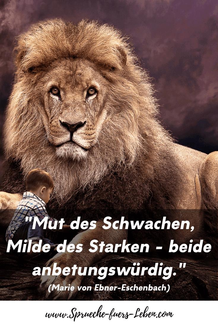 """""""Mut des Schwachen, Milde des Starken - beide anbetungswürdig."""" (Marie von Ebner-Eschenbach)"""