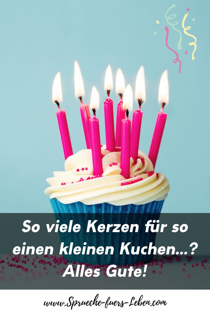 So viele Kerzen für so einen kleinen Kuchen...? Alles Gute!