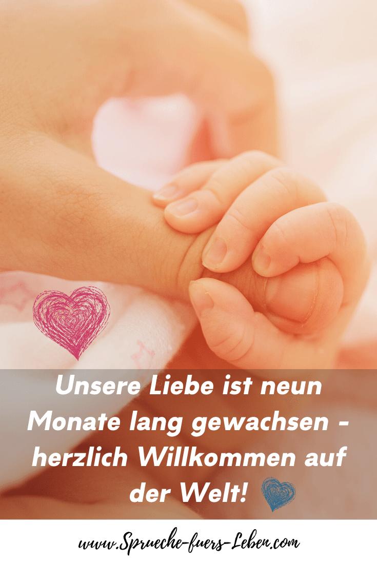 Unsere Liebe ist neun Monate lang gewachsen - herzlich Willkommen auf der Welt!