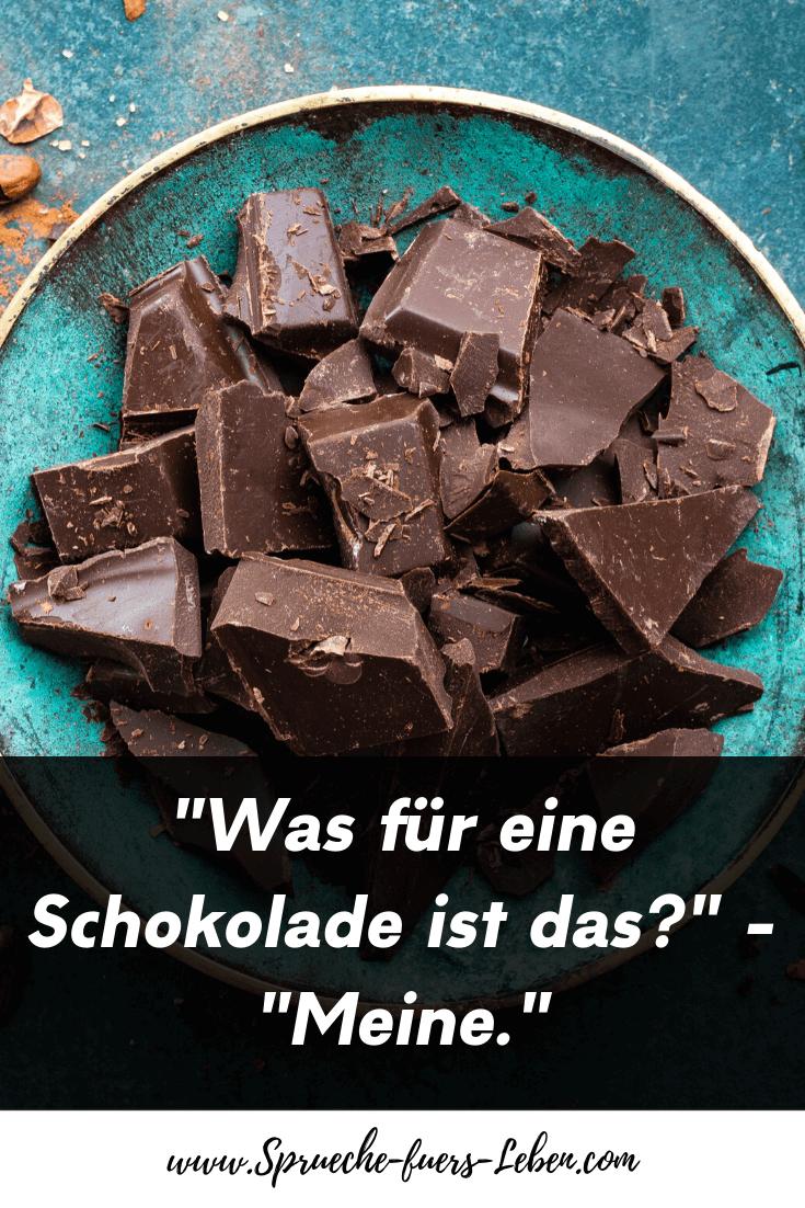 """""""Was für eine Schokolade ist das?"""" - """"Meine."""""""