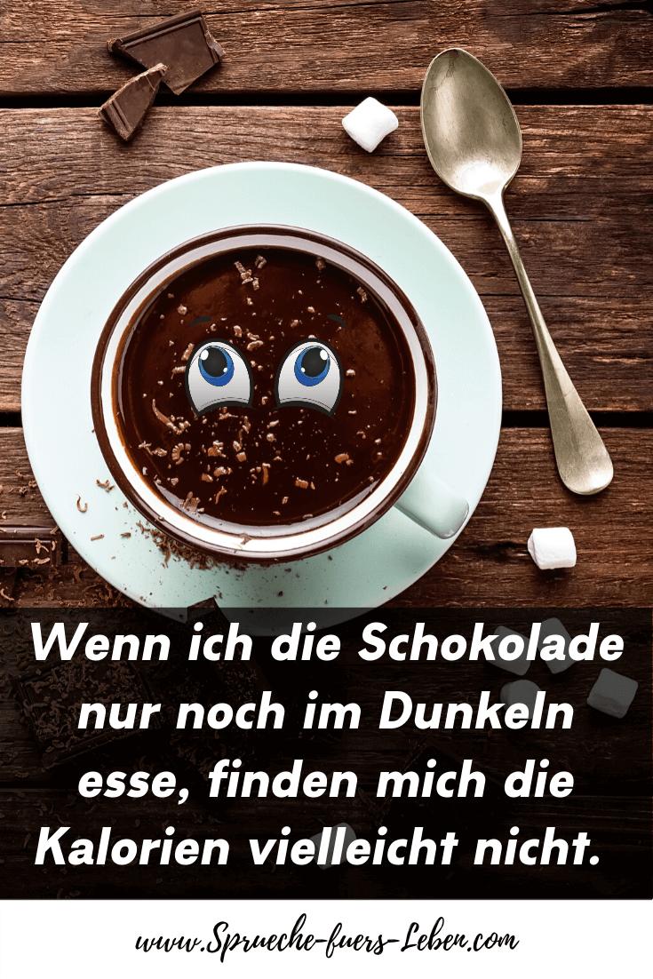 Wenn ich die Schokolade nur noch im Dunkeln esse, finden mich die Kalorien vielleicht nicht.