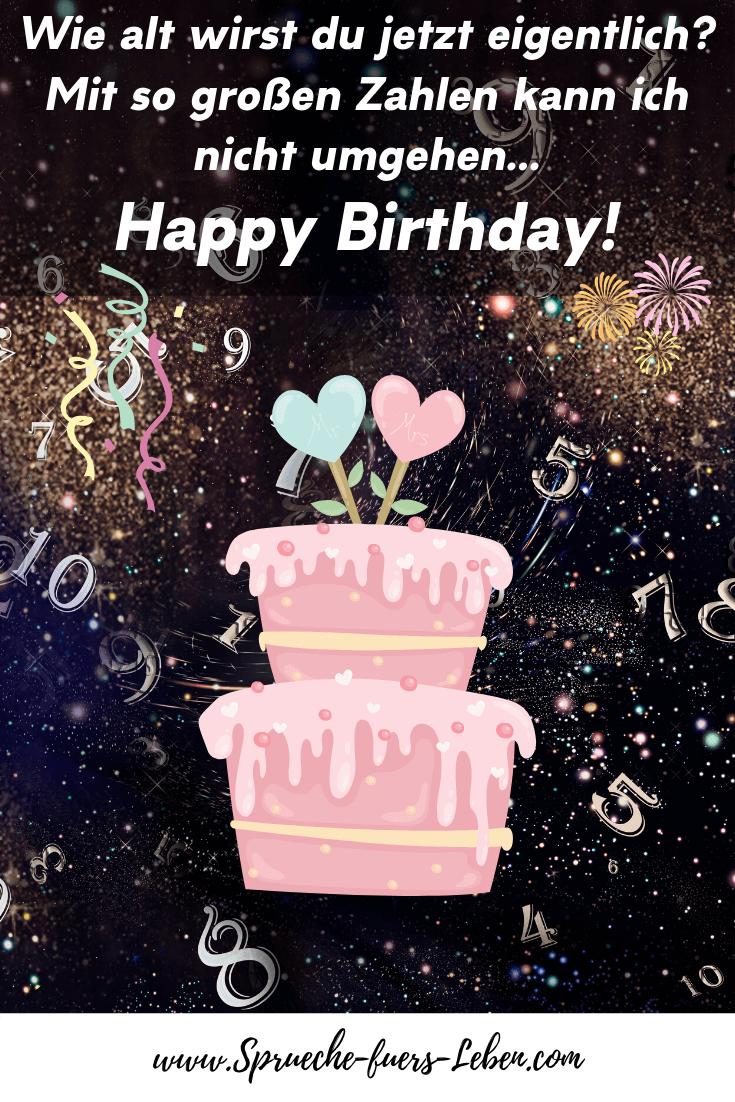 Wie alt wirst du jetzt eigentlich? Mit so großen Zahlen kann ich nicht umgehen... Happy Birthday!