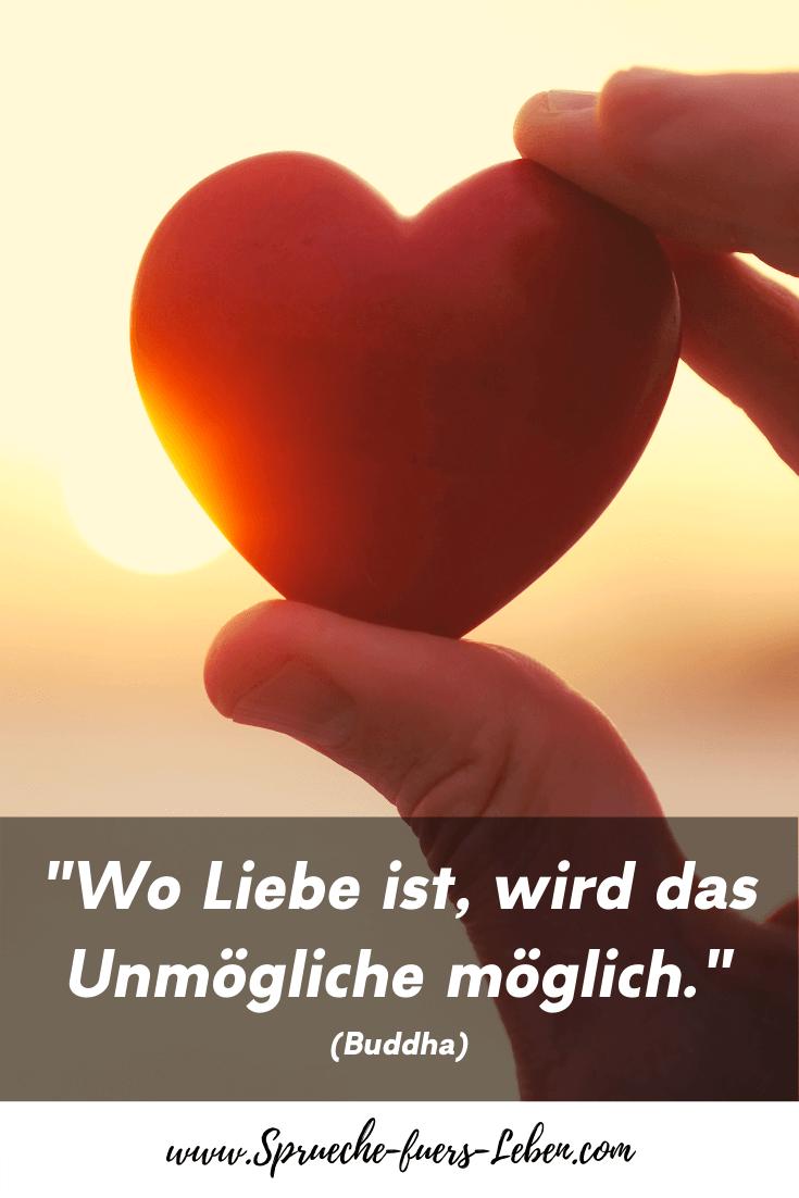 """""""Wo Liebe ist, wird das Unmögliche möglich."""" (Buddha)"""